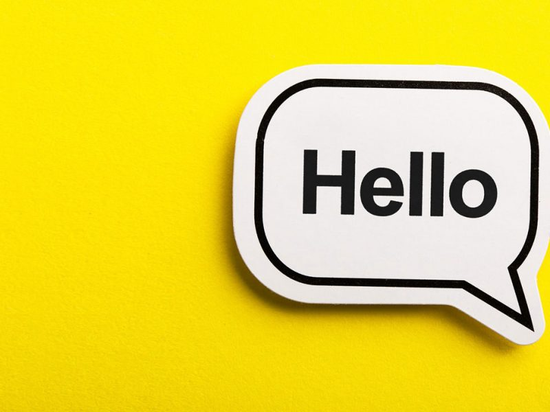 Sprechblase-Hello